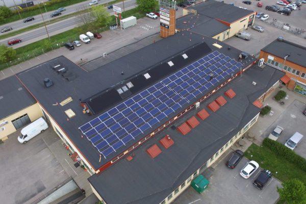 Solceller på Björkgatan 4 i Uppsala