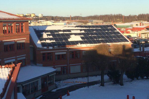 Solceller på Gävle Energis huvudkontor