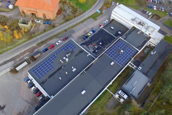 Solceller på Castellums fastighet Husbyborg