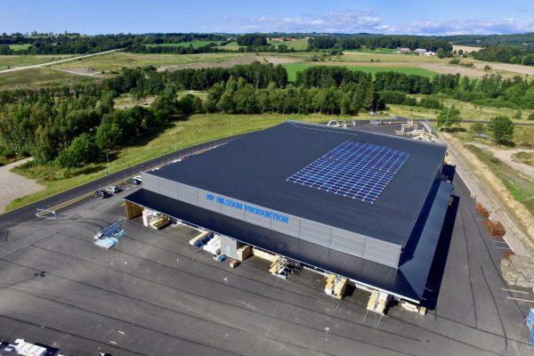 Solceller på NP Nilsson XL-Bygg i Båstad