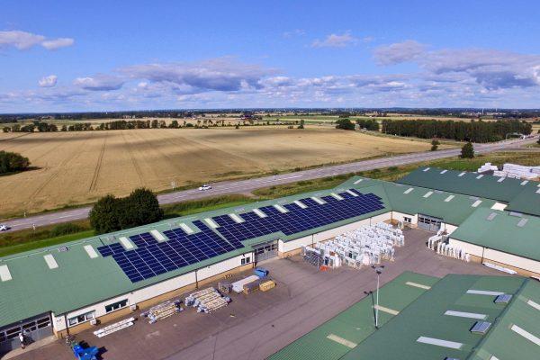 Solceller på Willab Garden i Båstad