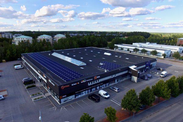 Solceller på Castellums fastighet Fyrislundsgatan i Uppsala