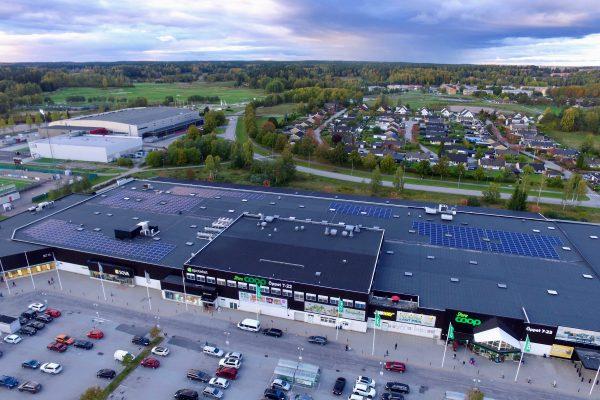 Solceller på Svenska Handelsfastigheter Coop Södertälje