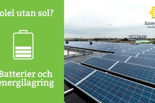 energilagring batteri solceller solenergi för företag