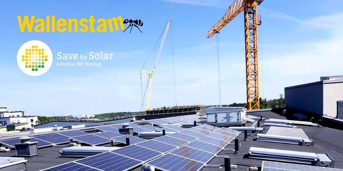 Wallenstam solceller Barkarbystaden