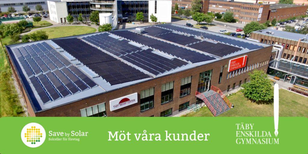 Täby enskilda gymnasium solceller