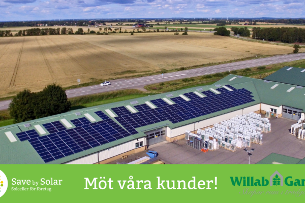 Videointervju med Williamsson, Willab garden. Save by Solar gröna, långsiktiga, investeringar