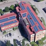 Solceller på en av Vasakronans fastigheter där de satsar på likströmsnät