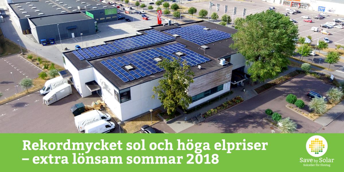 soltimmar och höga elpriser ger extra lönsamma solceller