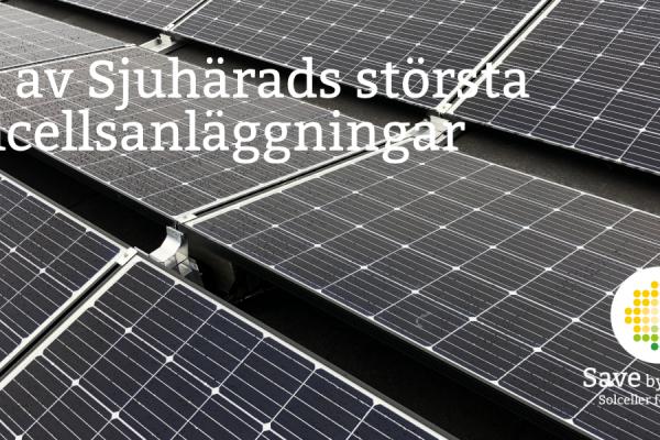 Just nu installeras en av Sjuhärads största solcellsanläggningar hos ICA Kvantum Svenljunga.