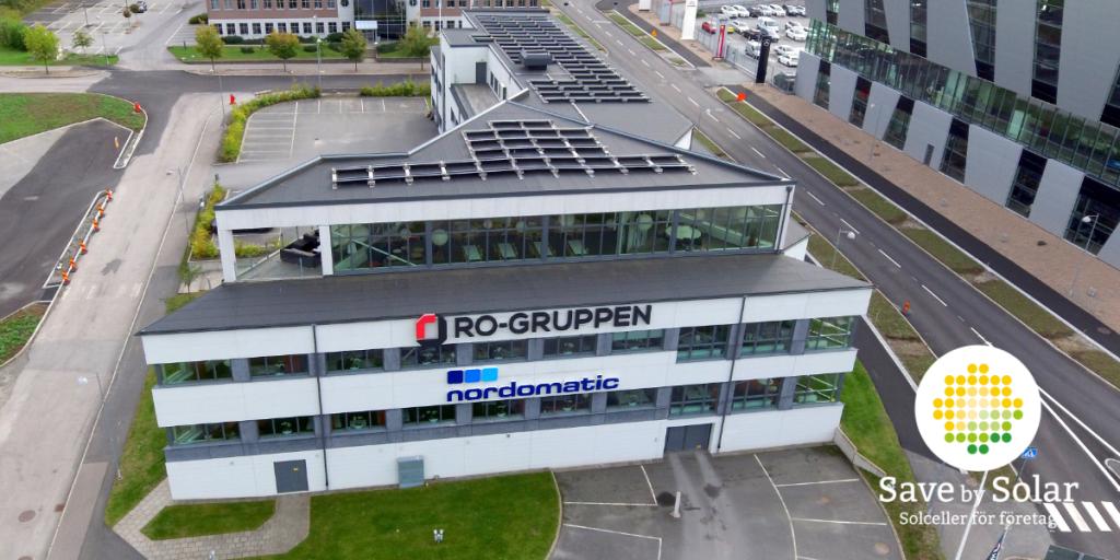 Save by Solar har installerat solceller åt Nordomatic, som jobbar med styrning av teknik i fastigheter.