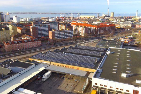 Save by Solar har installerat solceller åt Wihlborgs i Helsingborg.