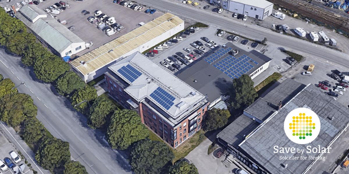 Save by Solar har installerat solceller åt fastighetsbolaget Castellum på fastigheten Kungsängen 35:3 i Uppsala.