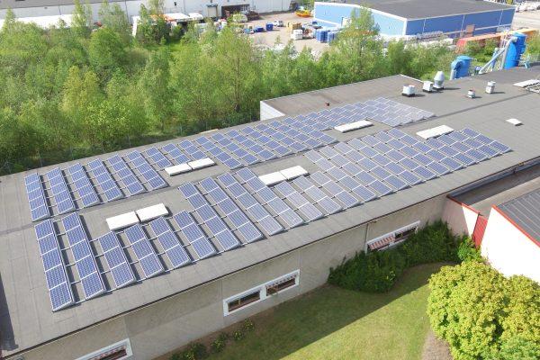 Save by Solar har installerat solceller åt Carlsson & Möller i Helsingborg.