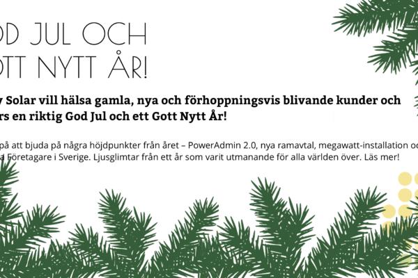 Solcellsföretaget Save by Solar önskar God Jul