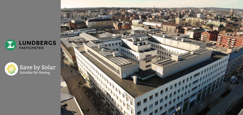Lundbergs Fastigheter installerar solceller i Norrköping med Save by Solar