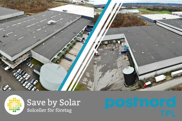 PostNord TPL Norrköping med solceller från Save by Solar